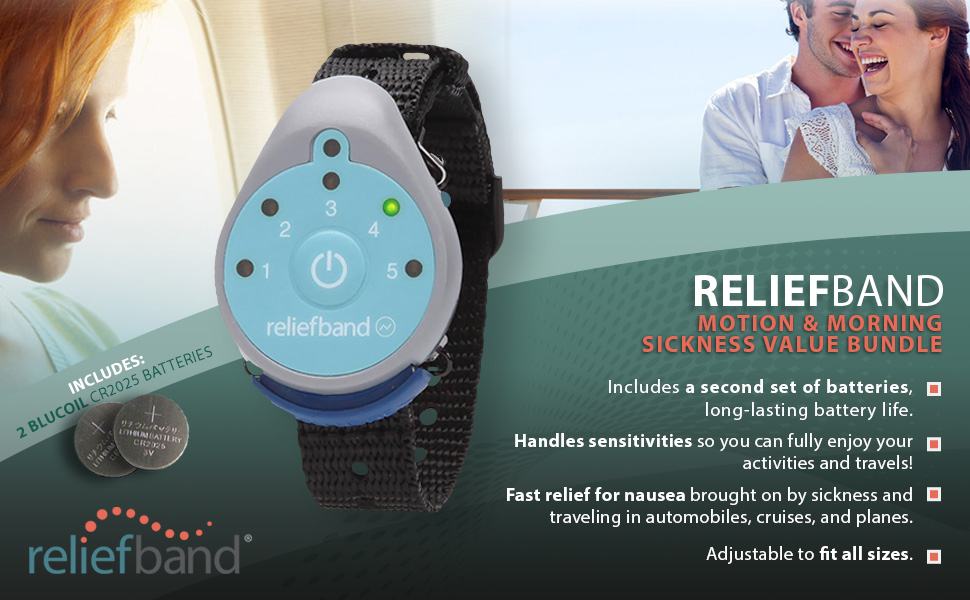 Relief Band is a clinically proven, FDA Cleared wearable technology for the treatment of nausea and vomiting associated with motion sickness, ...
