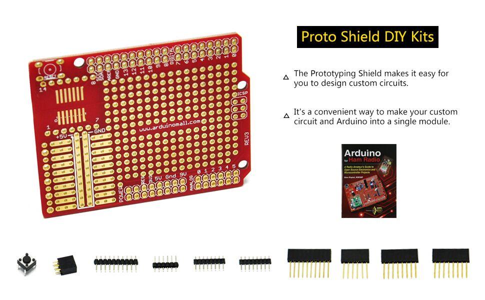Prototype PCB for Arduino UNO R3 Mega 1280 2560 328P Shield Board DIY Kit WT