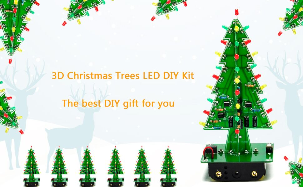 amazon com gikfun 3d usb christmas trees 3 colors led diy kit flashCircuit For Decorating A Christmas Tree Circuit Diagram Centre #6