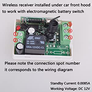 amazon com car wireless remote control battery switch disconnect about the wiring