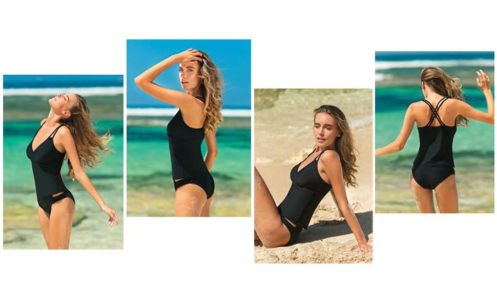 tankinis swimwear for women womens bathing suits womans tankini bathing suits v neck tankini top