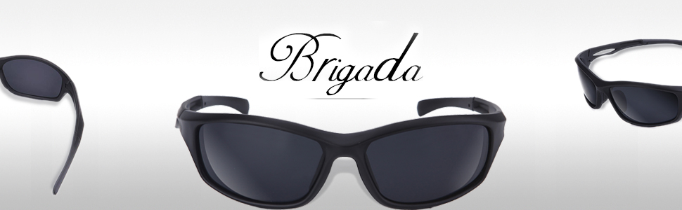 3eee495834 Amazon.com  BRIGADA Polarized Cool Black Fashion Driving Sport ...
