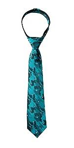 Boy's Dotted Camoflouge Woven Zipper Tie