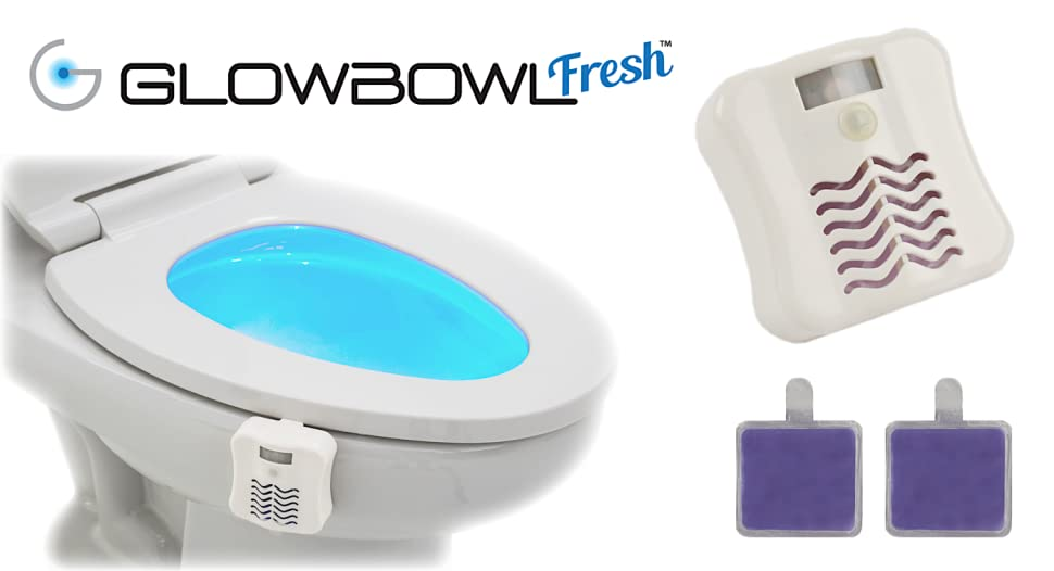 Glowbowl Fresh Motion Activated Toilet Nightlight W Air