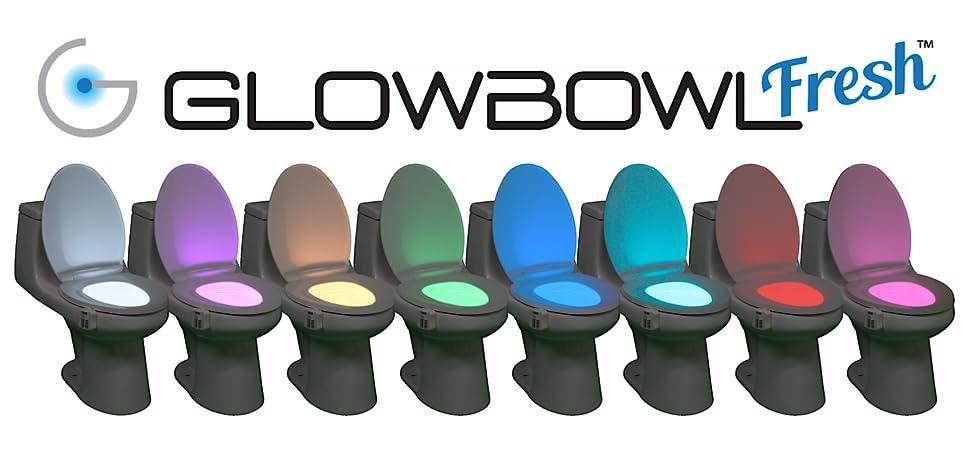 GlowBowl Fresh - Motion Activated Toilet NightLight w/Air Freshener ...