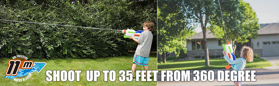 SHOOT UP TO 35 FEET FROM 360 DEGREE