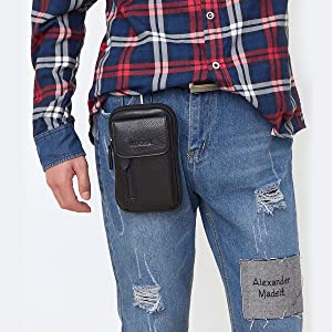 leather belt pouch for men