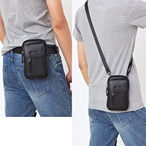 leather crossbody cell phone purse