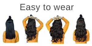 Amazon reecho 20 1 pack 34 full head curly wave clips in unlike the 7 pieses or 8 pieces hair extensions setyou only need very short time to wear the one piece hair extensions pmusecretfo Images
