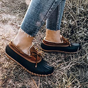 women's duck boots waterproof