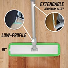Extendable Extra Length Mop for Wet Mopping