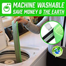 Machine Washable Microfiber Mop Pad Refills