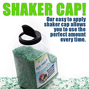 shaker cap bottle salt ice melt no clumping
