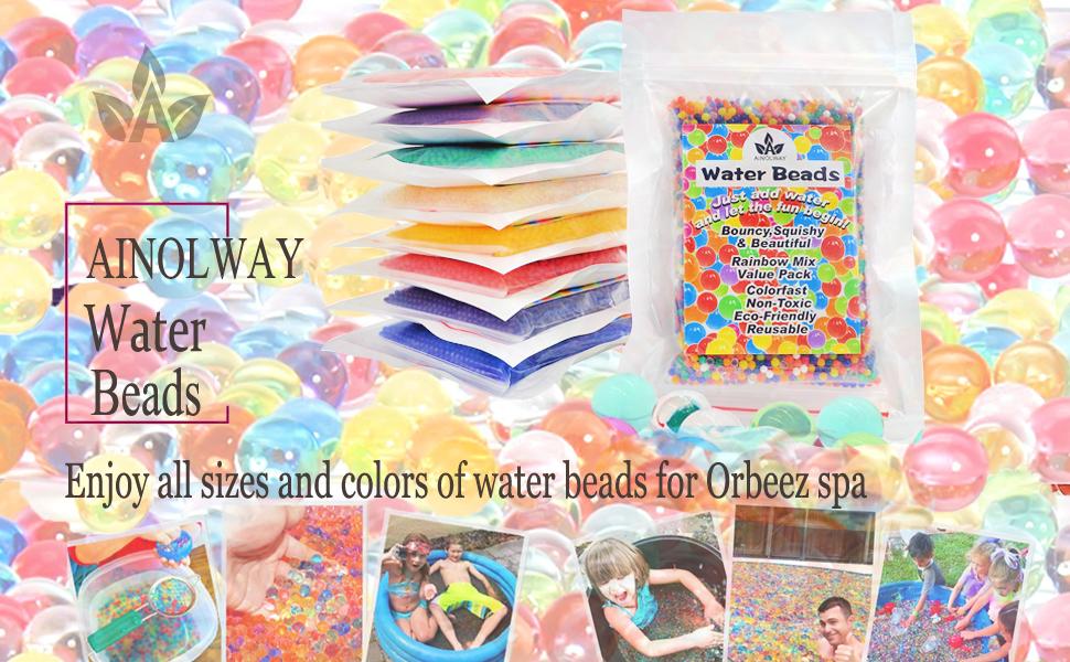 Amazon.com: AINOLWAY Abalorios de agua, 30 oz (80.000 ...
