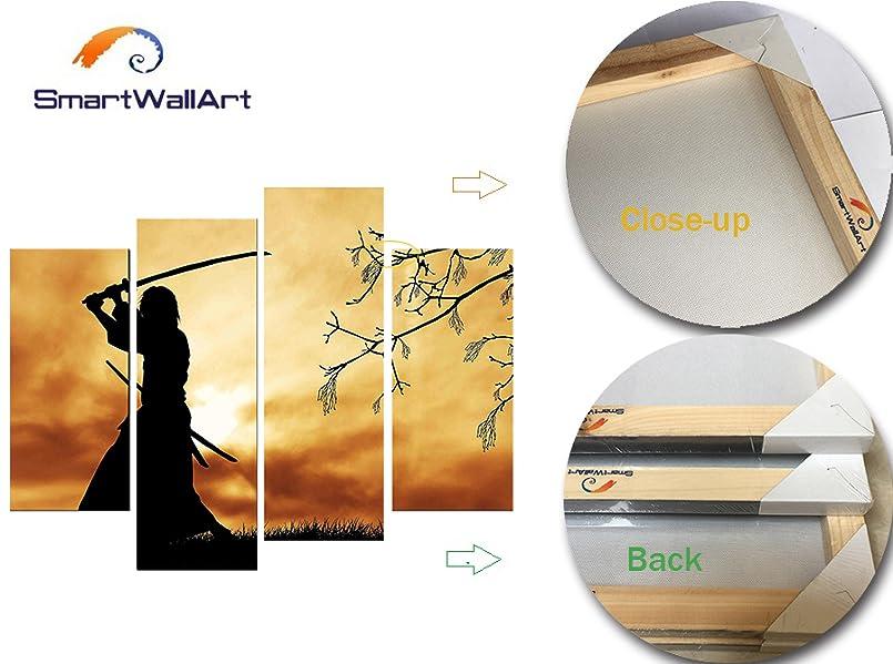 Amazon.com: SmartWallArt - Figure Paintings Wall Art Bushido Spirit ...