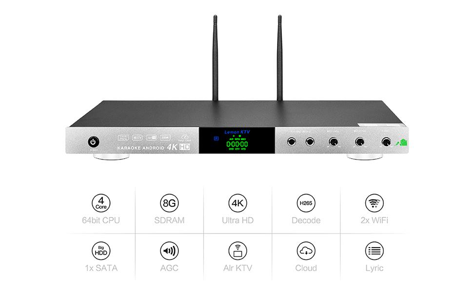 Amazon.com: LEMONKTV Android HDD/Cloud Karaoke Machine ...