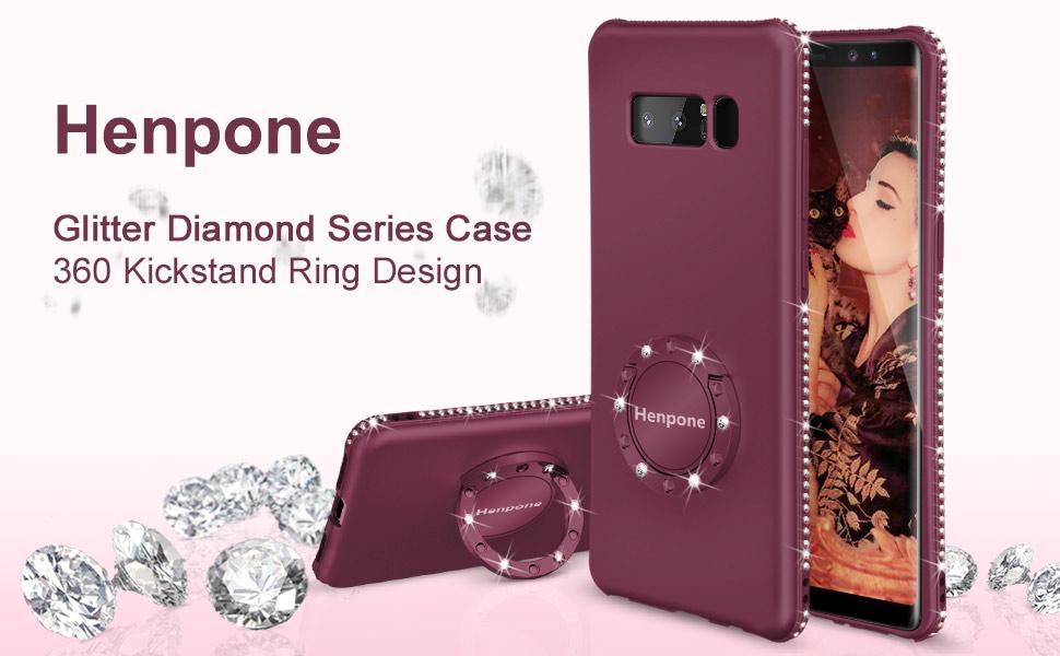note 8 glitter diamond case