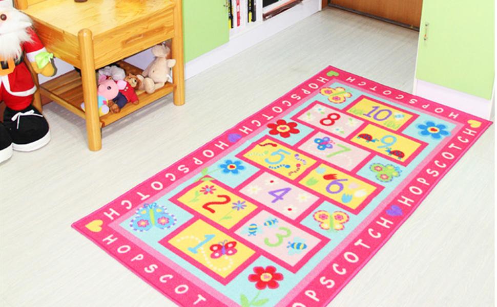 Fashion Hopscotch Kids Carpet Bedroom