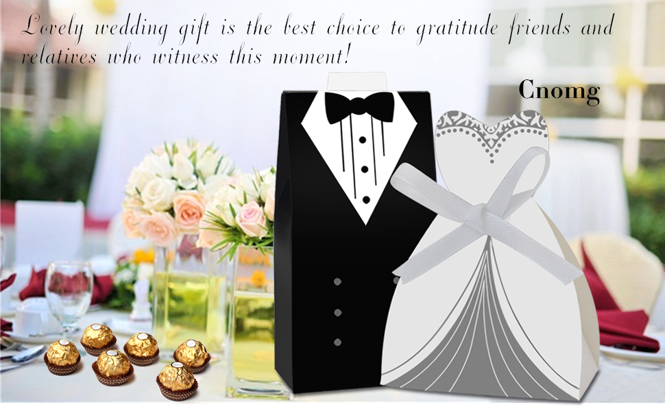 Amazon Cnomg 100pcs Party Wedding Favor Dress Tuxedo Bride