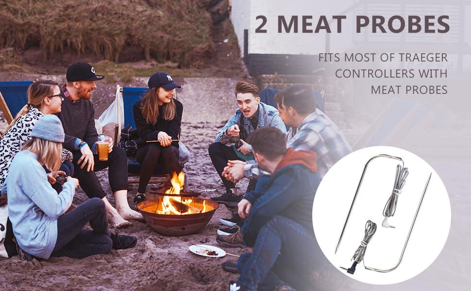 Thermopro TP20, TP17, TP16, TP09, TP08, TP07, TP06s, TP04, AQHQUA Stainless Meat Probe
