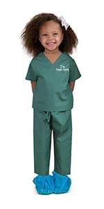kids scrubs, doctor costume, scrubs for kids
