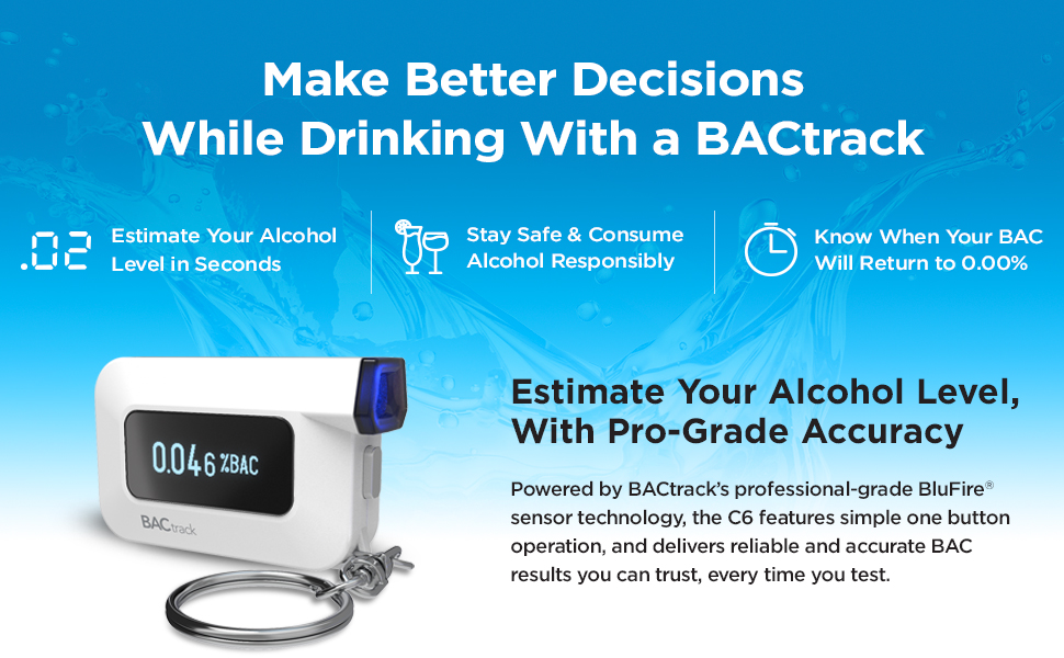 Amazon.com: BACtrack C6 - Alcoholímetro para llavero ...