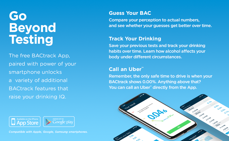 BACtrack C8 Personal Breathalyzer | Go Beyond Testing With the Free BACtrack App for iOS and Android