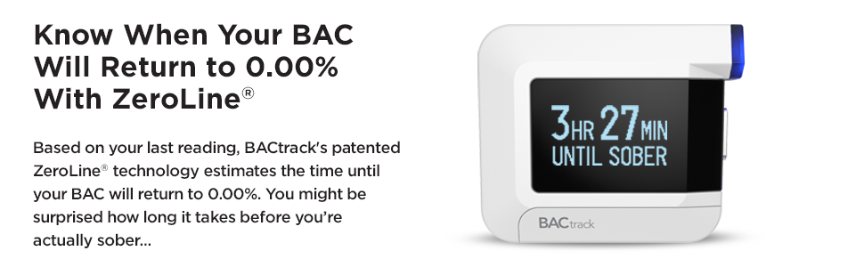 BACtrack C8 Personal Breathalyzer | Know When Your BAC Will Return to 0.00% With ZeroLine
