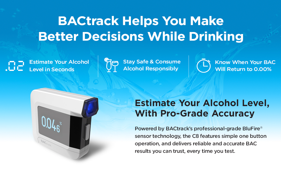 BACtrack C8 Personal Breathalyzer | BACtrack Helps You Make Better Decisions While Drinking