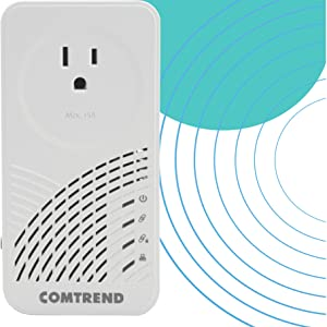 2-Unit Kit Comtrend G.hn Powerline Adapter with Pass-Through Outlet PG-9182PT-KIT