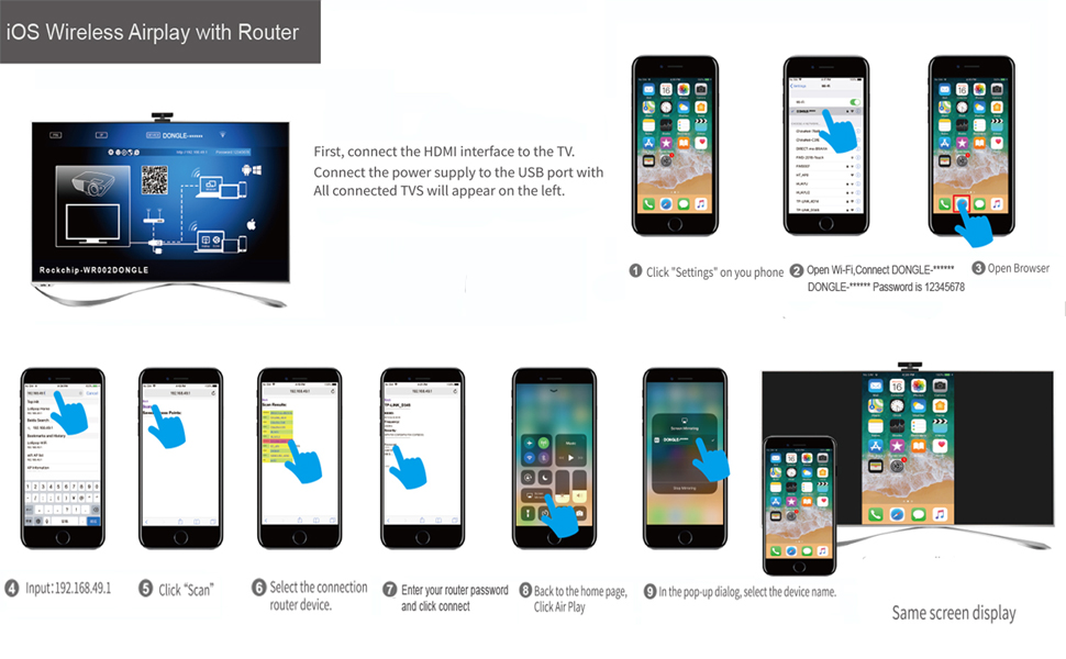 Amazon com: ACMETHINK Universal Wireless Display Receiver,Wireless