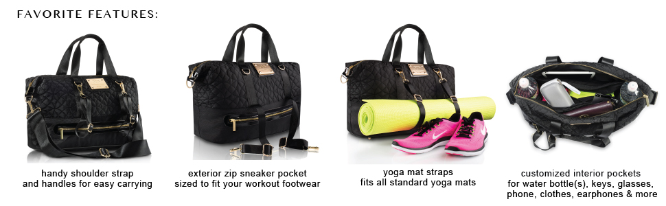 Amazon.com: Bolsa de gimnasio con correas y compartimento ...