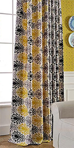 Amazon Anady Top Yellow Curtains Flower Drapes For Living Room