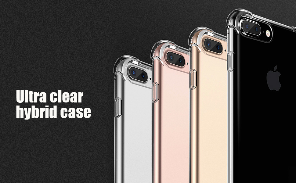matone clear iphone 78 plus soft tpu case with drop protection corners