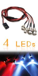 Kalevel Led Lights Kit for RC Car Truck Planes