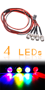 Kalevel Rc Led Lights Kit 1/10 1/8 Rc Car Trucks