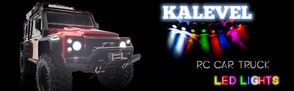 Kalevel 8pcs RC LED lights for RC model cars and trucks