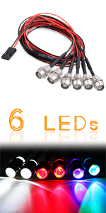 Kalevel Rc Car Trucks Lights with Metal Lampshades