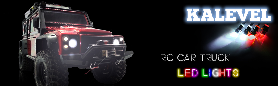 Kalevel Led Light for Rc Car Trucks 4 LED Rc Car Led Light Kit Rc Truck Led Lights