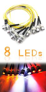 Kalevel Rc Car Led Light Kit Rc Trucks Led Lights