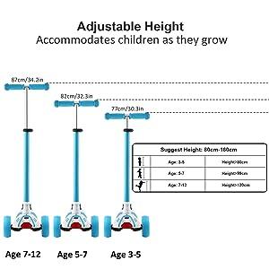 adjustable kids scooter