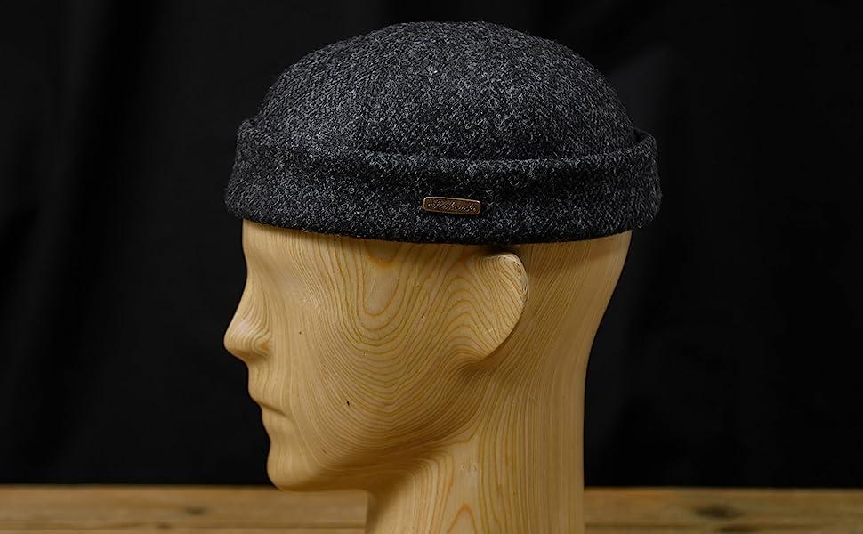 Leon beanie Harris Tweed wool cap
