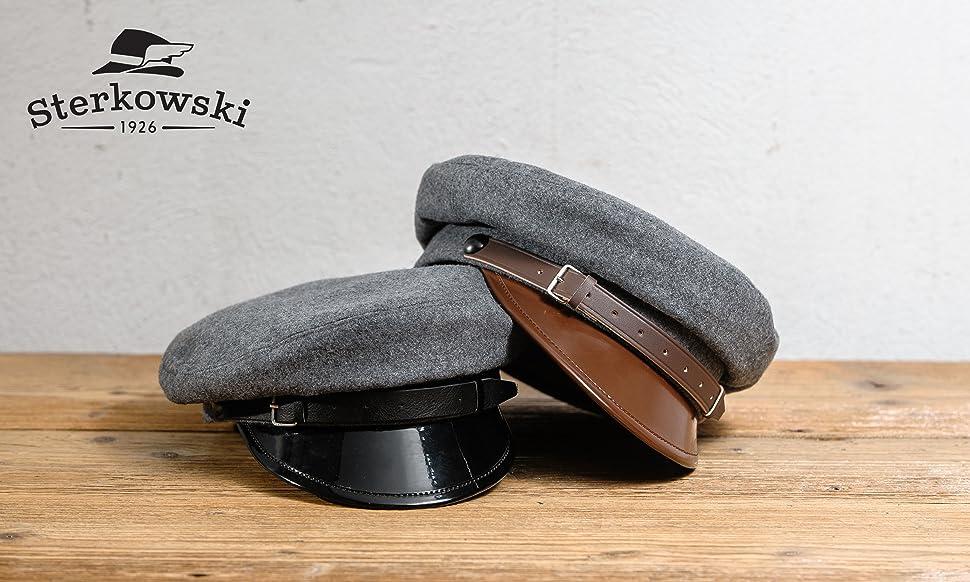 d763a6747ebc8 Sterkowski Wool Cloth Peaked Breton Style Maciejowka Cap at Amazon ...