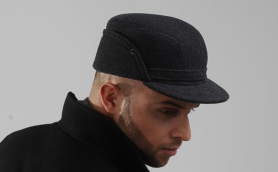 203f58d7b Wool Fleece Winter Working Cap with Ear Flap