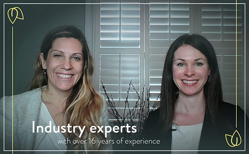 """Inna & Kristin, creators of Vibrant Beginning, """"Industry experts with over 16 years of experience"""""""