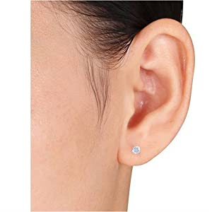 Picture of studs in ear