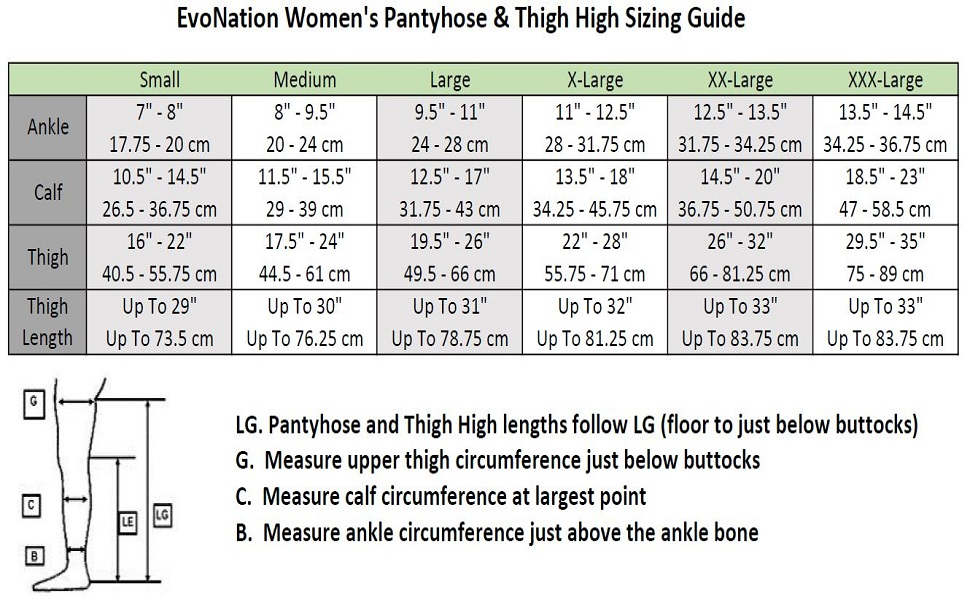waist compression pantyhose stockings hose thigh high open toe size closed toe XXL 2XL XXXL 3XL ted