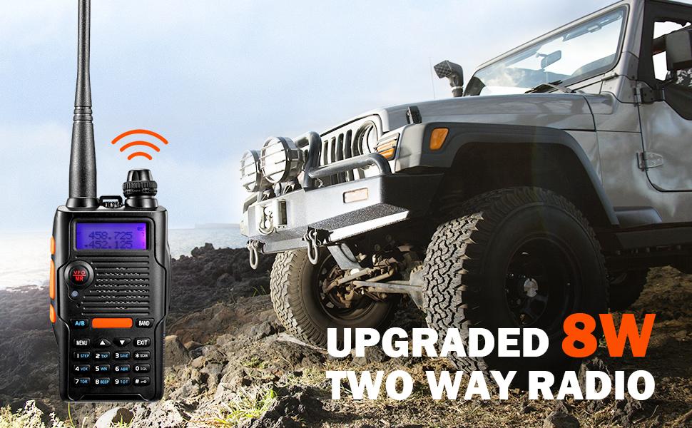 UPGRADED 8 WATT 2-WAY RADIO