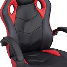 Coavas Computer Gaming Racing Chair red212