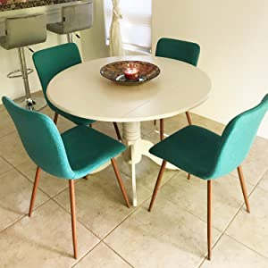 Amazon Com Coavas Set Of 4 Dining Chairs Fabric Cushion Kitchen
